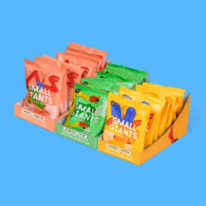 Small Giants Cricket Chips are made with cricket flour or cricket flour and are available in three great flavours